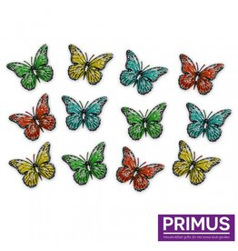 Set of 12 metal butterflies