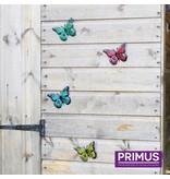Set van 12 metalen vlinders