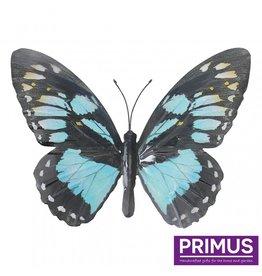 Metal light blue butterfly