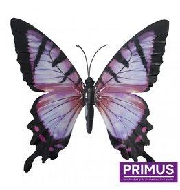 Metalen roze vlinder