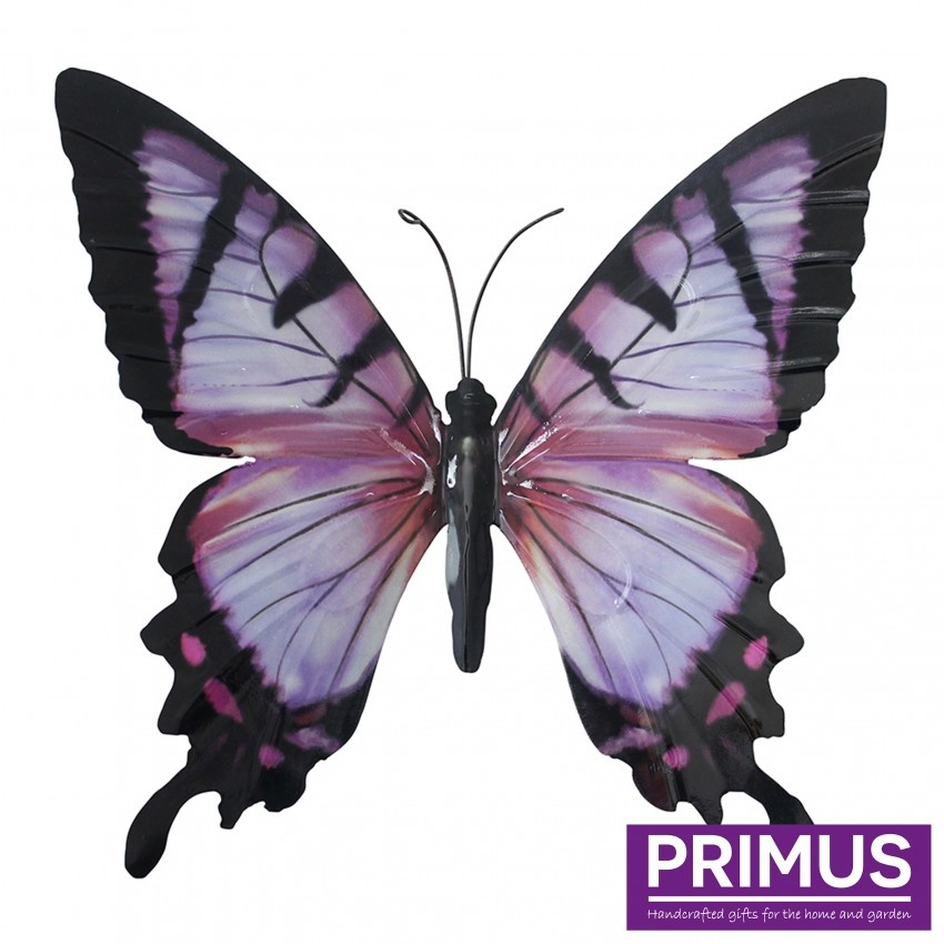 Metalen paarse vlinder