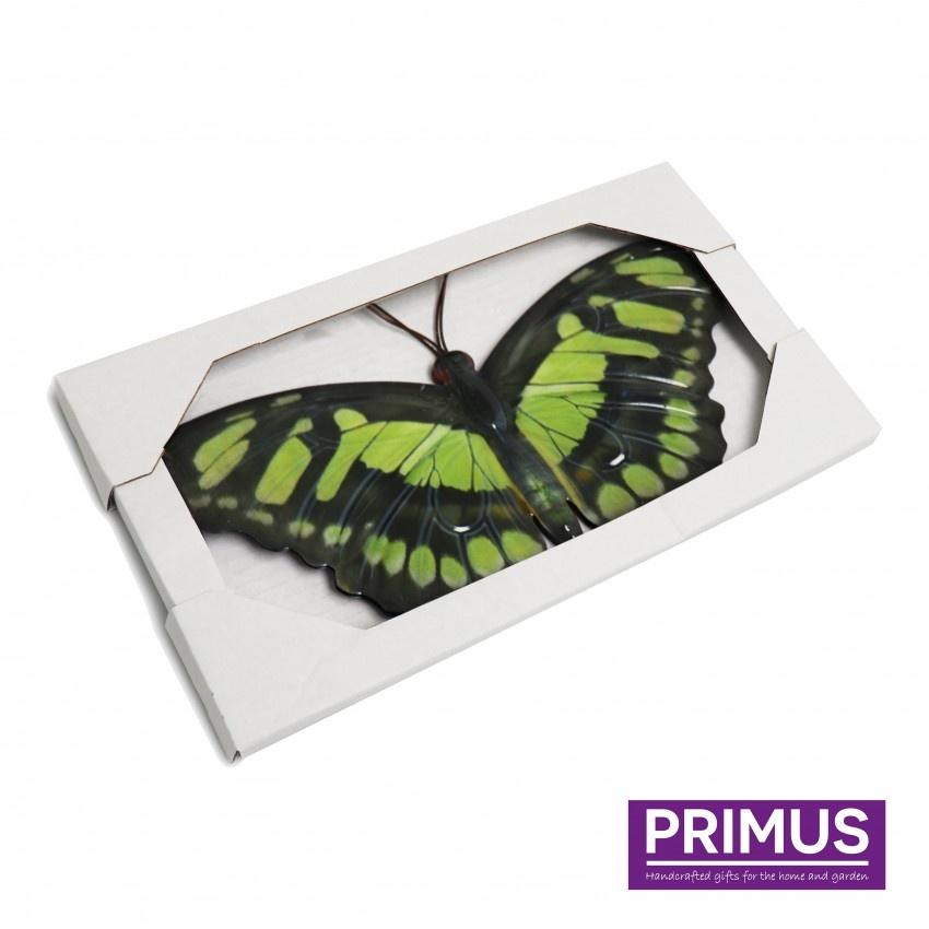 Metalen vlinder geel