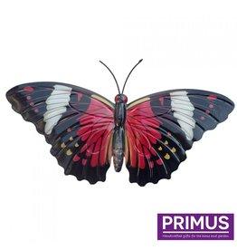 Metalen rode vlinder