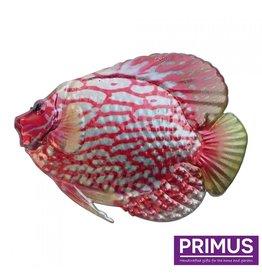 Metalen roze vis