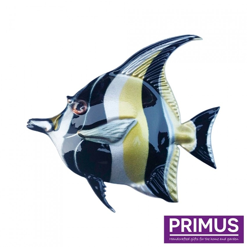 Metal black-yellow fish