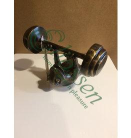 Bronze fitness frog