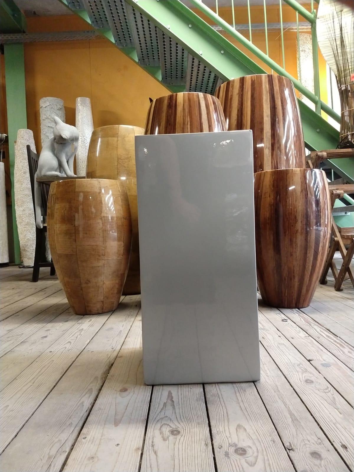Eliassen Zuil  hoogglans Urta zilvergrijs 60cm