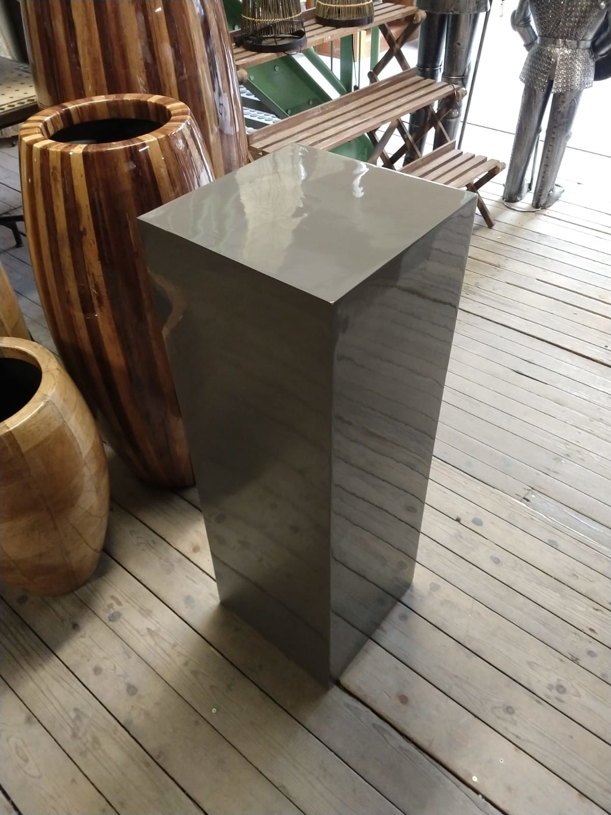 Eliassen Zuil  hoogglans Urta grijs 80cm