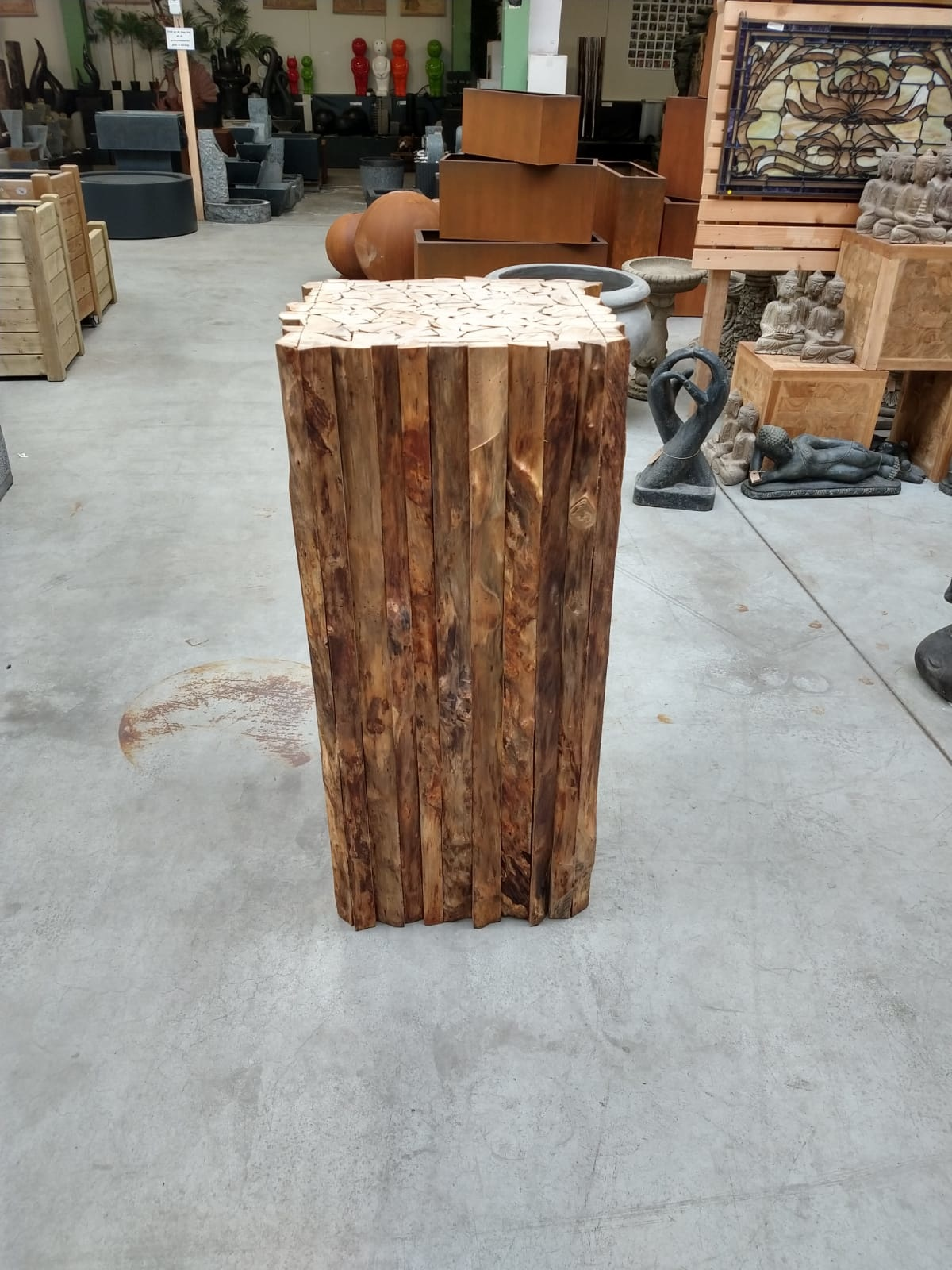 Eliassen Sokkel Woddy Hout 45x45x100cm