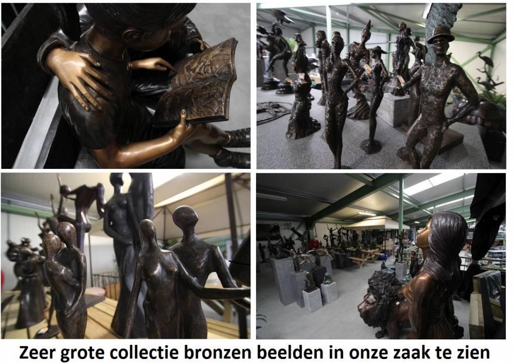 Eliassen Bronzen spuitfiguur Jongen met vis