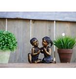 Eliassen Beeld brons kinderpaar