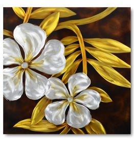 Malerei Aluminiumlilie 80x80cm - Copy