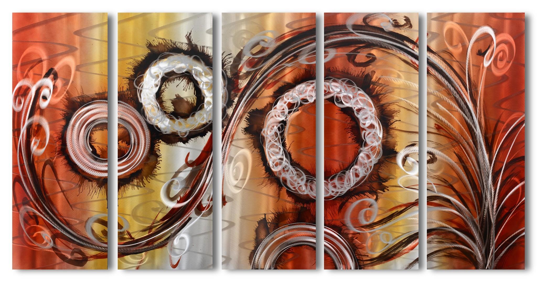 Bemalung von Aluminium mit fünf Fächern, Fantasy 80x150cm