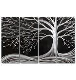 Bemalung Alu-Vierplattenbaum schwarz 120x80cm
