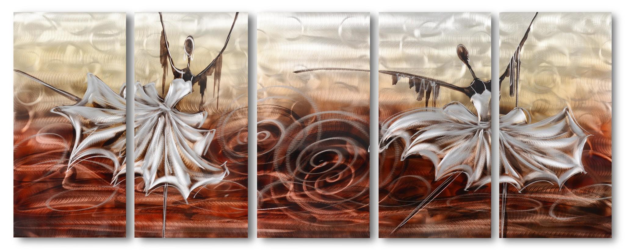 Bemalung von Tänzern aus Aluminium mit fünf Platten 60x150cm