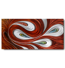 Schilderij aluminium  Flair rood 80x160cm