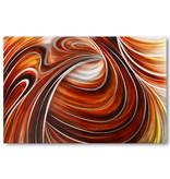Abstraktes Aluminium lackieren Rote Linien 80x120cm