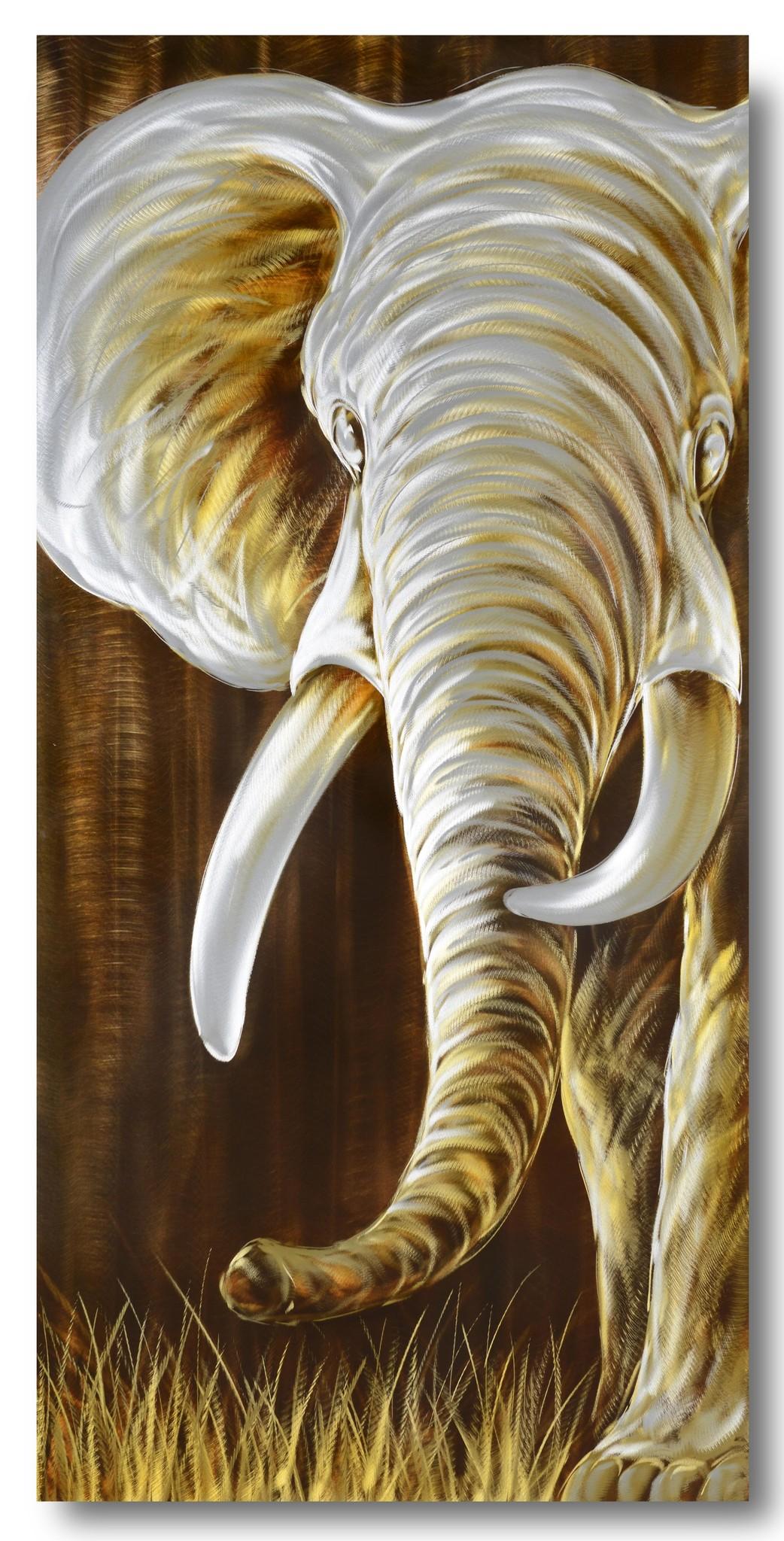 Bemalen von Aluminium Elefanten 70x140cm