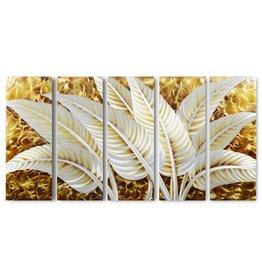 Bemalung von Aluminiumblättern mit fünf Blättern 80x150cm