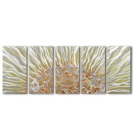 Schilderij aluminium  vijfluik Stralend  60x150cm