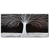 Bemalen Sie Aluminiumbaum in der Nacht 80x160cm