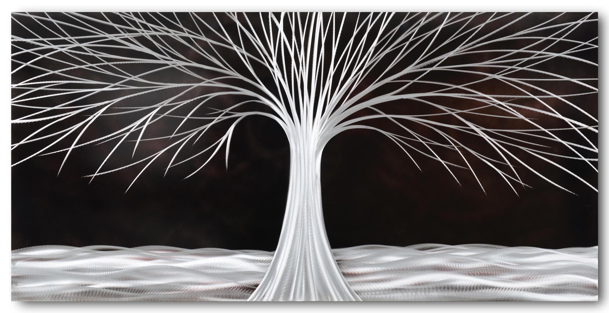 Bemalen Sie Aluminiumbaum in der Nacht 60x120cm
