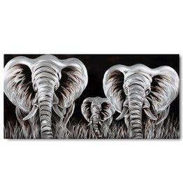 Bemalen von Aluminium-Elefanten 60x120cm