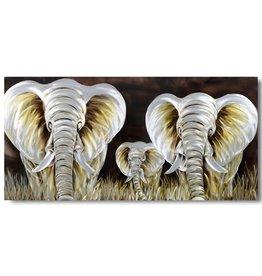 Bemalen von Aluminium-Elefanten 100x240cm