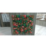 Wall decoration 3d Blocks 100x100cm