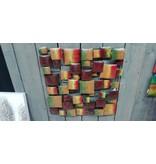 Wand decoratie 3d Blokken 70x70cm
