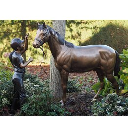Eliassen Picture bronze girl with horse