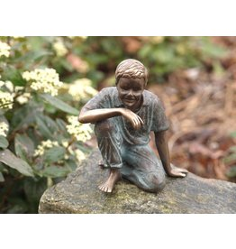 Eliassen Image bronze sitting boy