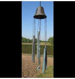 Eliassen Windspiel Bronze große Glocke mit Tulpe