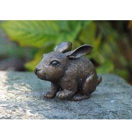 Eliassen Beeldje brons klein konijntje