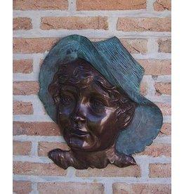 Eliassen Muurdecoratie brons jongensgezicht