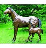 Eliassen Beeld brons paard en veulen