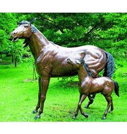 Eliassen Bild Bronze Pferd und Fohlen