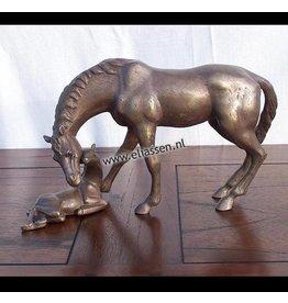Eliassen Beeld brons paard met veulen