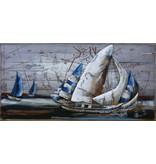 Eliassen Metal painting Sailors 70x140cm