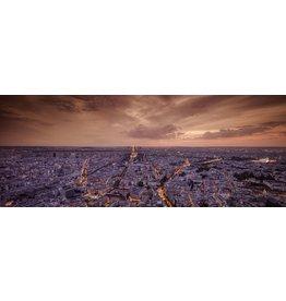 MondiArt Glasschilderij  Parijs in avondlicht 180x70cm