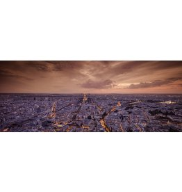 MondiArt Paris glass painting in evening light 180x70cm