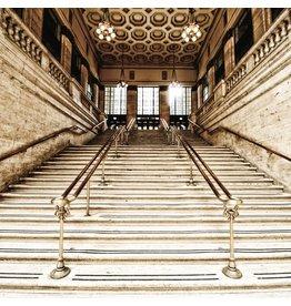 Ter Halle Glasmalerei 80 x 80 cm. Treppe