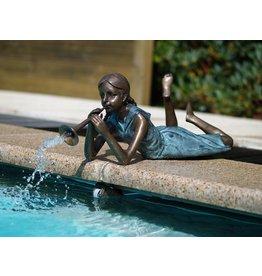 Eliassen Syringe figure bronze girl with whistle