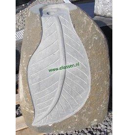 Eliassen Water feature Leaf Basalt stone