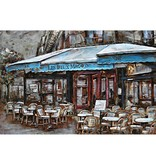 3d painting metal French terrace 120x80cm