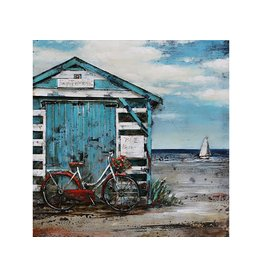 Eliassen 3d painting metal 60x60cm Beach house