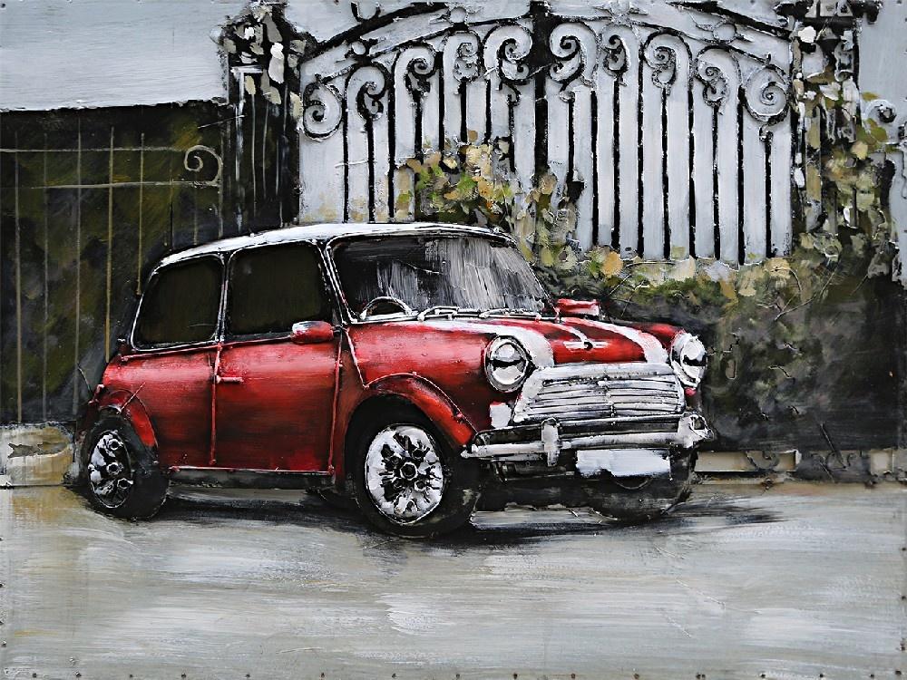 Eliassen painting metal 3d 80x60cm Red Mini