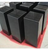 Eliassen Base black granite polished 35x35x120cm high