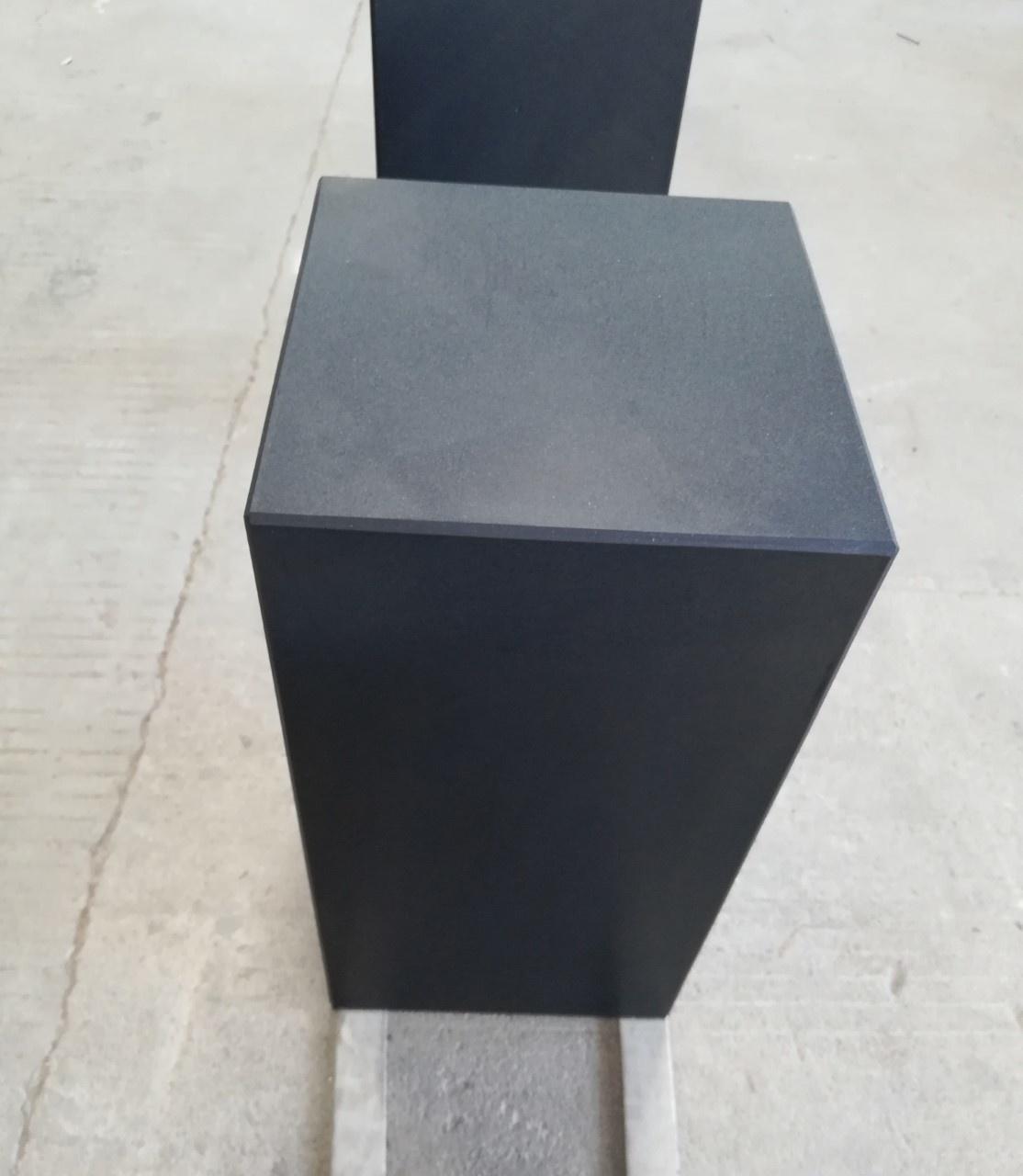 Eliassen Base black granite matt 30x30x85cm
