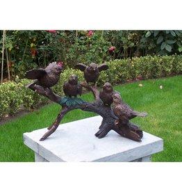 Eliassen Image bronze 5 birds on branch